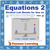 Solving Equations 2 -- Virtual Manipulatives Lab for Middle School Math CCSS