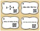 Solving Equations 28 QR Code Task Cards