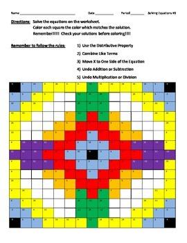 Solving Equations #3 Color Design
