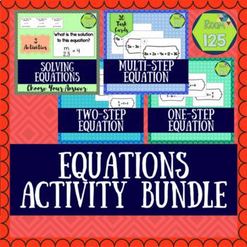 Solving Equations Activity Bundle