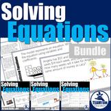 Solving Equations Activities Bundle