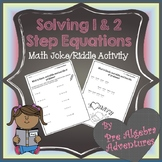 Solving Equations Activity {Solving One Step Equations Worksheet} {Algebra 1}