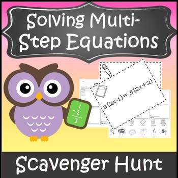 Algebra 1 Solving Equations Activity {Solving Multi-Step Equations Activity}