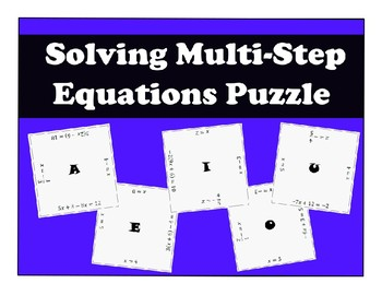 Solving Equations Activity Bundle