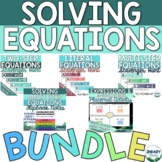 Solving Equations Activity Bundle- Includes 13 Resources