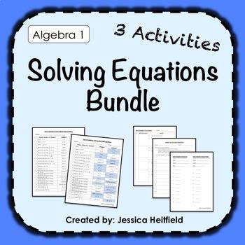 Solving Equations Activity Bundle: Fix Common Mistakes!
