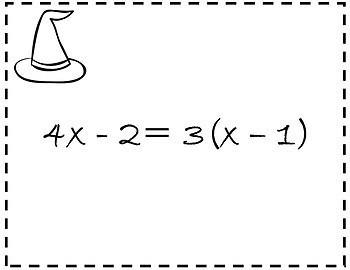 Solving Equations Activity {Halloween Algebra 1 and 2 Halloween Scavenger Hunt}