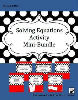 Solving Equations Activity Mini-Bundle