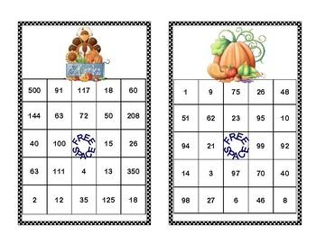 Solving Equations -All 4 Operations-Thanksgiving Theme-Algebra Bingo