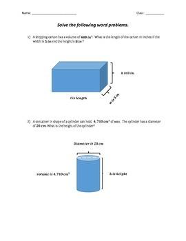 Solving Equations Assessments