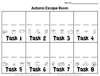 Solving Equations Autumn Math Escape Room--Paper and Digital Escape Room