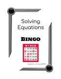 Solving Equations BINGO