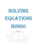 Solving Equations BINGO (Create Your Own Board)