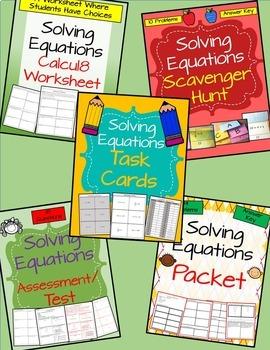 Solving Equations - BUNDLE