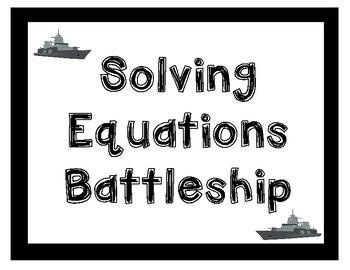 Solving Equations Battleship