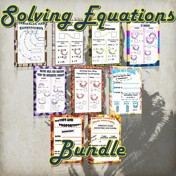 Solving Equations Bundle- (Guided Notes and Practice)