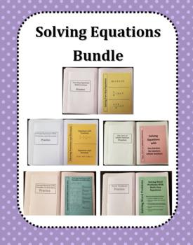 Solving Equations Bundle (Foldables)