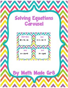 Solving Equations Carousel Activity