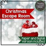 Solving Equations Christmas Math Escape Room--Paper and Di
