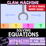 Solving Equations Claw Machine Interactive Review Game