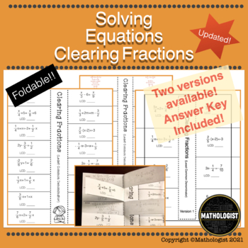 Solving Equations, Clearing Fractions, One Variable