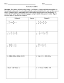 How to Solve Equations Clearing Fractions Partner Activity