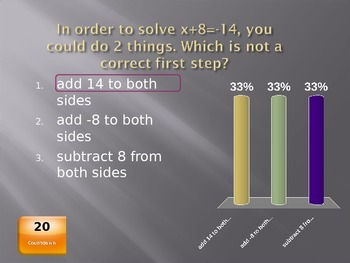 Solving Equations Clicker Game