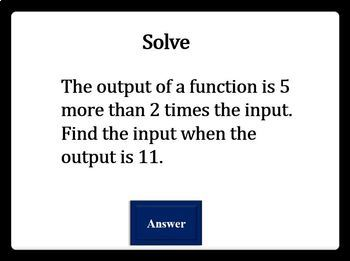 Solving Equations Collaborative PowerPoint Game Review