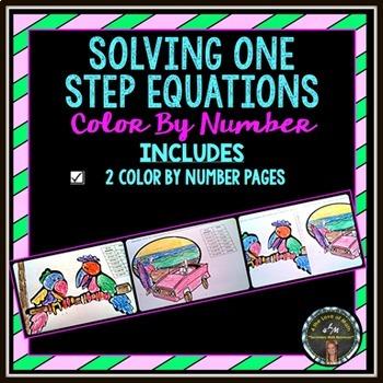 Solving Equations: Color By Number Bundle (1-step, 2-step, Multi-Step)