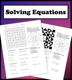 Solving Equations Color Worksheet