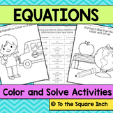 Solving Equations Color and Solve