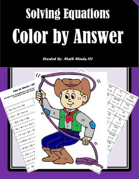 Solving Equations - Color by Answer (Variables on Both Sides)