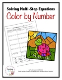 Solving Multi-Step Equations Color by Number Activity