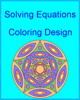 Solving Equations - Coloring Design