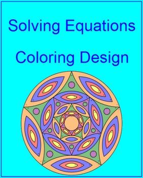 Solving Equations - Coloring Design