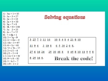 Solving Equations - Common Core Algebra