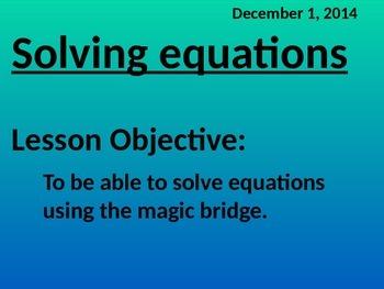 Solving Equations - Common Core Algebra