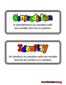 Solving Equations - Contradictions and Identities, Part 1