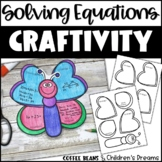Solving Equations Craft | Butterfly Activity