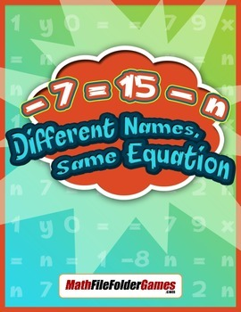 Solving Equations - Different Names, Same Equation