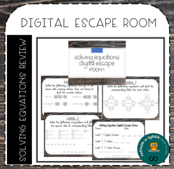 Solving Equations Digital Escape Room by Infinit-e-ighth ...