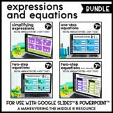 Solving Equations Digital Math Activity Bundle | 7th Grade Math