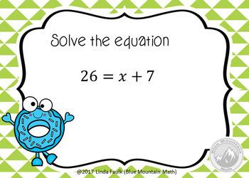 Solving Equations B00M Card Bundle Plus Printable Cards