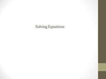 Solving Equations (Distributing & Combining Like Terms)