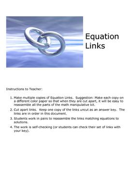 Multi-Step Equation Links