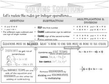 Solving Equations Handout