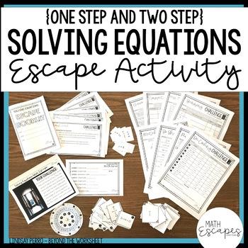 Solving Equations Escape Room Activity