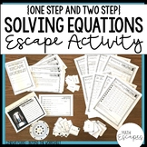 Solving Equations Escape Room Activity