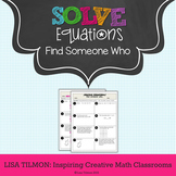 Solving Equations Find Someone Who Activity