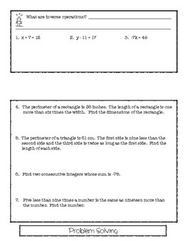 SOLVING EQUATIONS FLIP-BOOK!